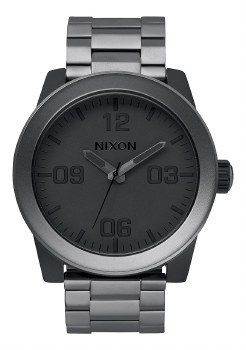 Nixon Corporal SS 48mm in Matte Black/Matte Gunmetal