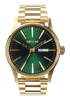 Sentry Stainless Steel Gold/Green Sunray