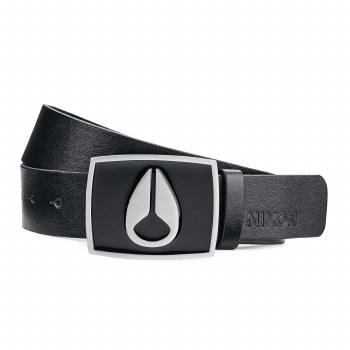 NIXON BLACK ENAMEL ICON II BELT M