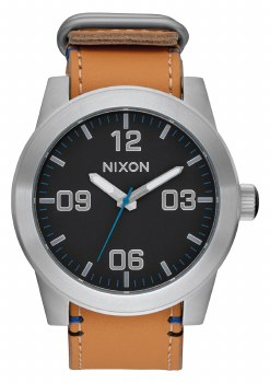 NIXON CORPORAL, 48 MM BLACK/NATURAL