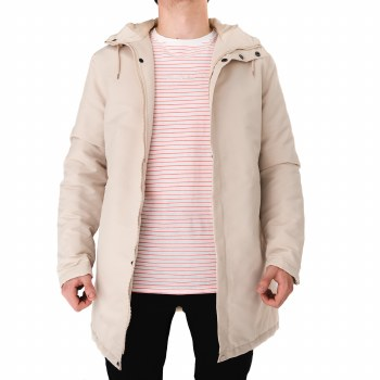 SOUL STAR BEIGE LONG BOMBER JACKET