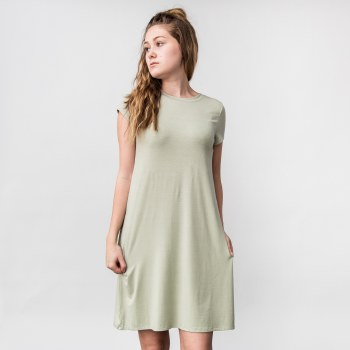 Wasabi Short Sleeve Knit T-shirt Dress