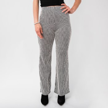Flared Pencil Stripe Pants