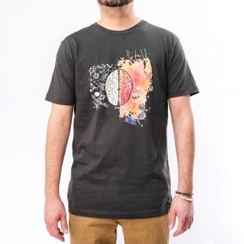 Bronxton Designs Printed Creative Brain T-Shirt