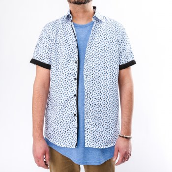 Bronxton Short Sleeve Floral Button Down