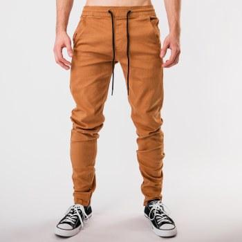 Kayden K Slim Fit Stretch Twill Joggers w/ Ankle Zipper
