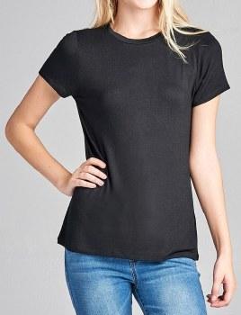 Short-sleeve Crew-neck Jersey T-shirt