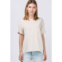Short-sleeve Round-neck Waist-length Oversize Tee-shirt