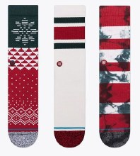 Stance Set-of-3 Stocker Men's Crew Socks