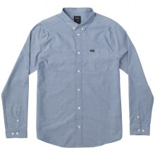 RVCA BRIGHT BLUE THAT'LL DO STRETCH LONG SLEEVE SHIRT