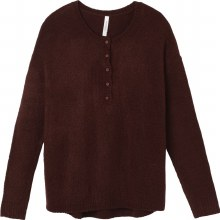 RVCA Urboyfriends Long-sleeve Button-fron Knit Henley