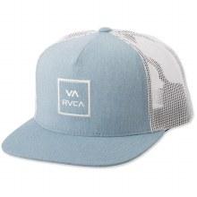 RVCA HEATHER BLUE VA ALL THE WAY PRINTED TRUCKER HAT