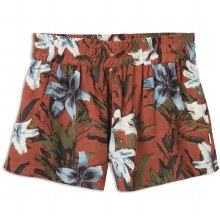 RVCA BURNT RED REAL EZ ELASTIC SOFT SHORT S