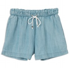 RVCA IM LISTENING HIGH RISE CHAMBRAY SHORT L