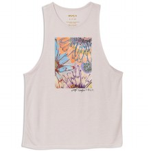 RVCA GREY PURPLE SAGE VAUGHN MUSCLE TANK TOP M