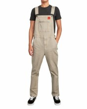 RVCA DARK KHAKI SMITH STREET OVERALL