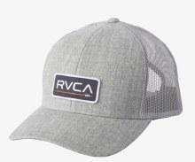 RVCA Ticket Trucker Hat III Heather Grey