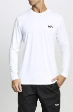 RVCA VA Vent Long Sleeve Crew Neck Printed Tee