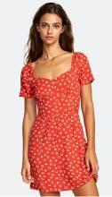 RCVA Fenced Short Sleeve Sweetheart Neck Mini Dress