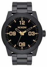 NIXON Corporal Stainless Steel 48mm in Matt Black/Gold