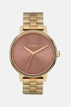 NIXON Kensington 37mm in Light Goldtone/Marsala