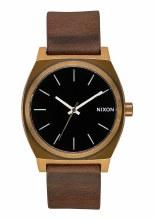 NIXON Time Teller, 37 mm Brass / Black / Brown