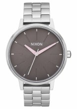 NIXON Kensington, 37 mm Silvertone / Gray / Pale Pink