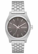 NIXON ALL SILVER MEDIUM TIME TELLER 31MM WATCH
