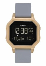 NIXON Siren Stainless Steel 36 mm in Light Goldtone/Gray
