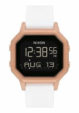 NIXON Siren Stainless Steel 36 mm in Rose Goldtone/White