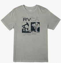 RVCA Industrial Valley Short Sleeve Crew Neck Printed Tee