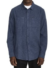 RVCA Harvest Flannel Blue