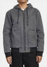 RVCA Cotton Duck Hooded Bomber Jacket