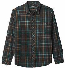 Billabong Coastline Wave-Washed Plaid Flannel Men'sShirt