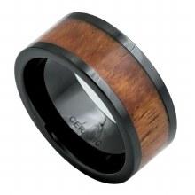 Bronxton Wood Inlay Ceramic Ring