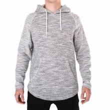 PX HEATHER GREY DESMOND CURVED HEM HOODIE