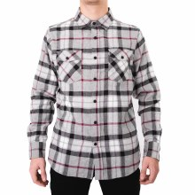 PX LONG SLEEVE BLACK PLAID BUTTON UP FLANNEL