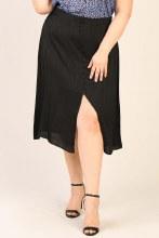 Button Front Midi Skirt