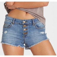 BILLABONG BEACH BLUE BUTTONED UP DENIM SHORT 26