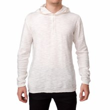 Bronxton White Knit Hooded Sweater