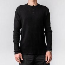 Bronxton Long Sleeve Waffle Knit Henley Shirt