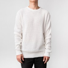 Bronxton Long Sleeve Round Neck Recycled Knit Sweater