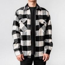 Bronxton Long Sleeve Zip-Up Plaid Jacket