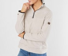 Billabong Oatmeal Mock T-Neck Half Zip Pullover