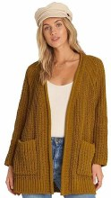 Billabong Long Sleeve Open Front Warm-Up Cardigan