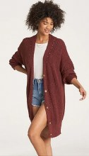 Billabong Mellow Nights Knee Length Knit Cardigan