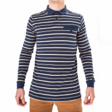 BANKS JOURNAL INSIGNIA BLUE LONG SLEEVE HELLO POLO