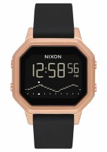 NIXON Siren Stainless Steel 36mm in Rose Goldtone/Black