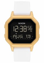 NIXON Siren SS, 36 mm Goldtone / White