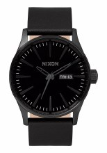 Sentry Leather 42mm in All Black